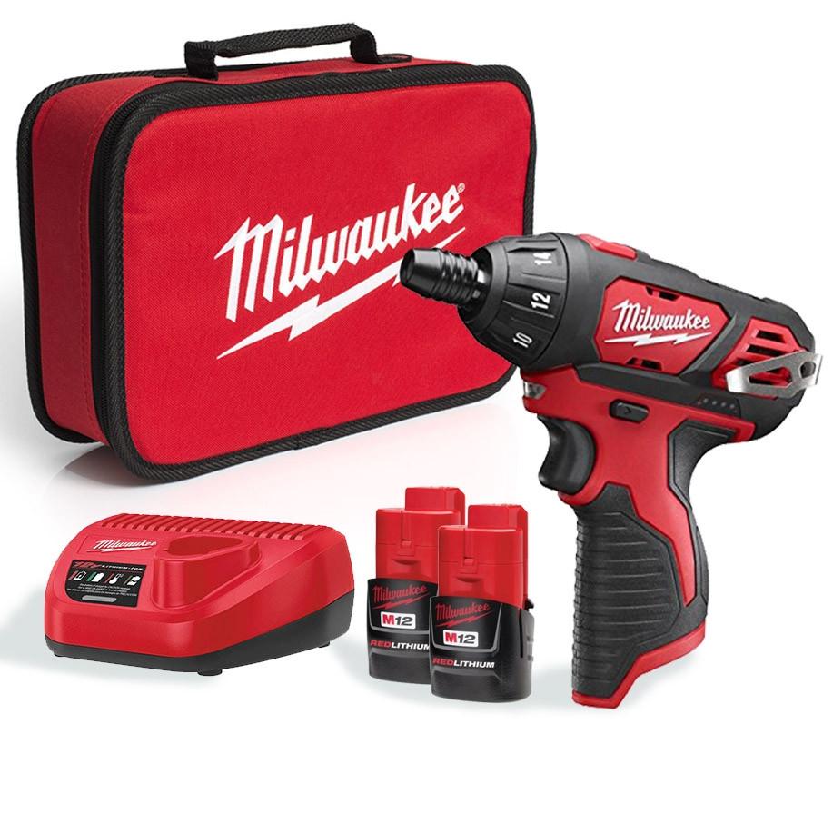 "Milwaukee M12 1/4"" Sub Compact Screw Driver M12SET1D-152B"