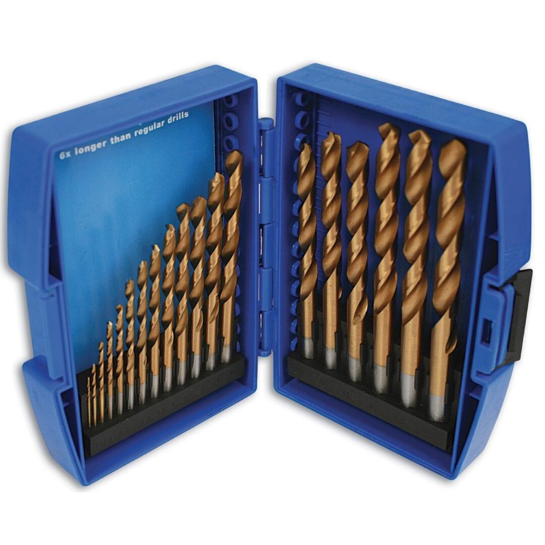 Laser Drill Set - Titanium Coated - 19pc