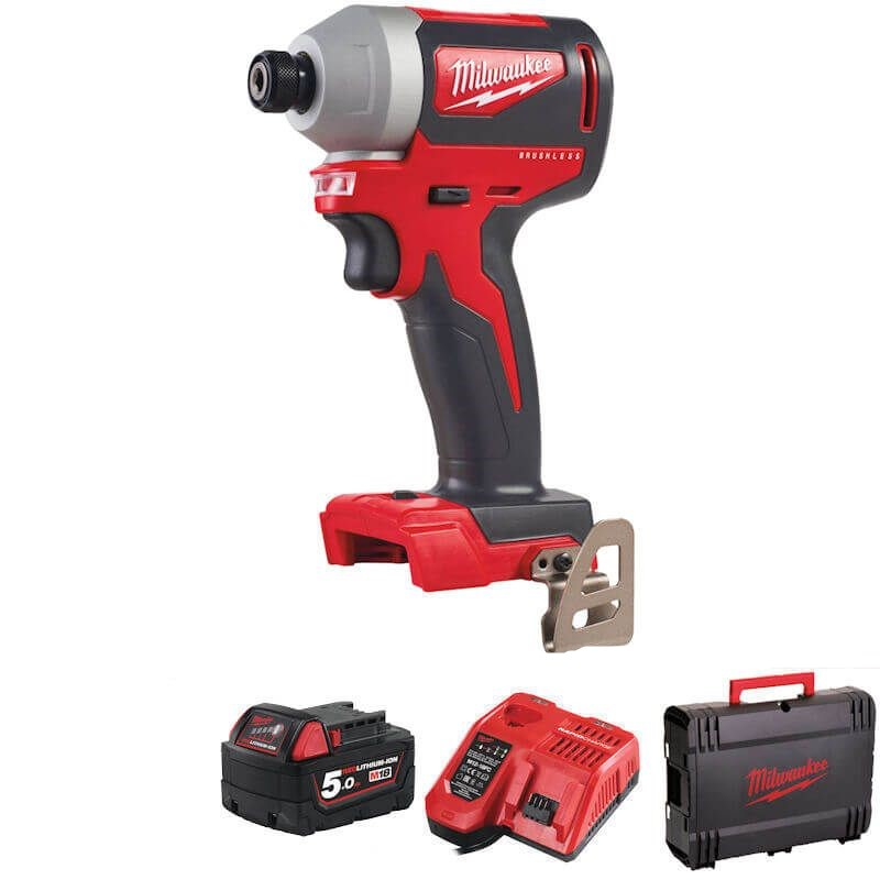 Impact Driver Supplied with 1 x 5ah Battery Charger and Kit Box