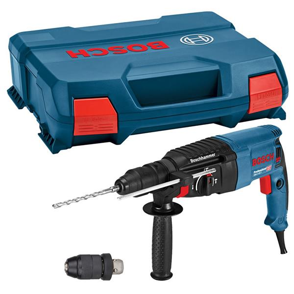 Bosch 110V 830 Watt Professional SDS Plus Rotary Hammer Drill GBH2-26F | Rotation clutch control reduces the risk of injury by stopping the drill automatically if the bit gets stuck in material. | toolforce.ie
