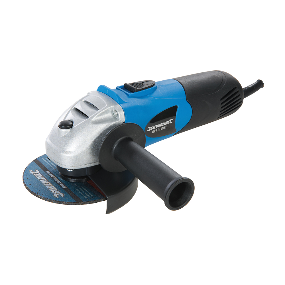 Silverline DIY 650W Angle Grinder 115mm UK 571295 | Compact and versatile mini grinder for a wide range of grinding, cutting and sanding tasks. | toolforce.ie