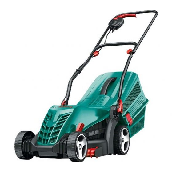 BOSCH ROTAK 34R ELECTRIC 230V LAWNMOWER | A 1,300 W Powerdrive motor ensures a reliable cut, even in challenging situations Grass | toolforce.ie