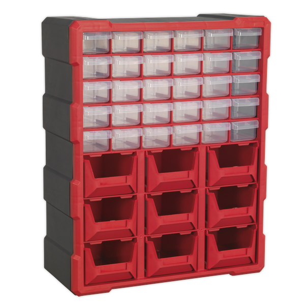 SEALEY 39 DRAWER CABINET BOX APDC39R   Tough and durable housing, contains 39 impact resistant composite drawers.   toolforce.ie