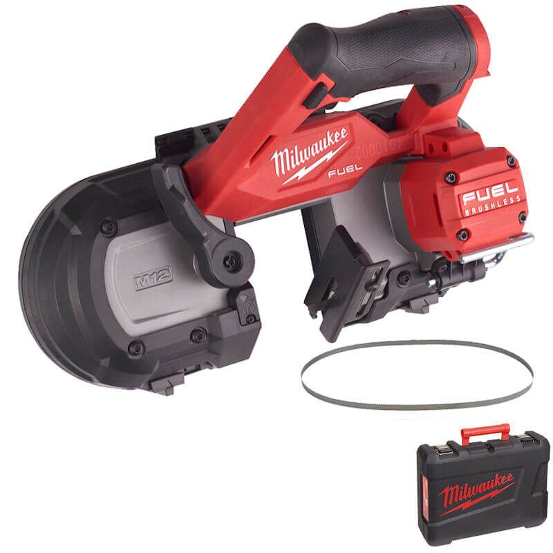 Milwaukee M12 FUEL COMPACT 64MM BANDSAW M12FBS64-0C | Compact light weight design, especially for cutting overhead with one hand in existing installations and in tight spaces.