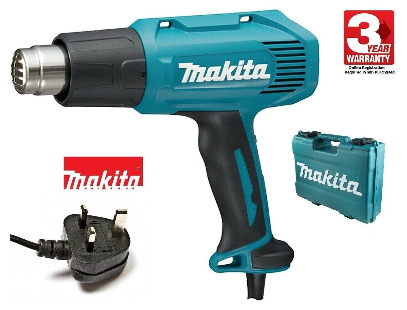 Makita Professional Heat Gun 550c HG5030K 1600W | Its ergonomic soft grip provides increased comfort during prolonged use. | toolforce.ie