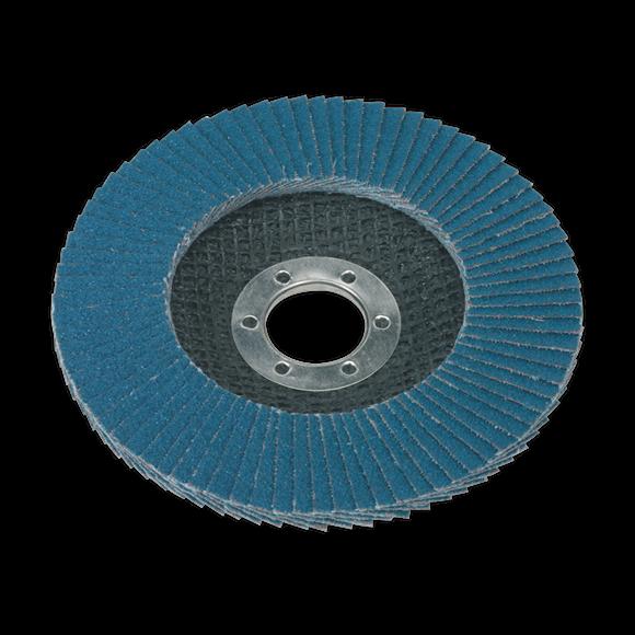 Flap Disc Zirconium Ø115mm Ø22mm Bore 80Grit   Zirconium flap disc for descaling, derusting, weld preparation, weld cleaning and general surface preparation.   toolforce.ie