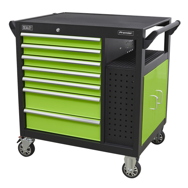 Sealey Mobile Roll cab & Workstation AP36MWS | Supplied with two shelves to be mounted as required. | toolforce.ie