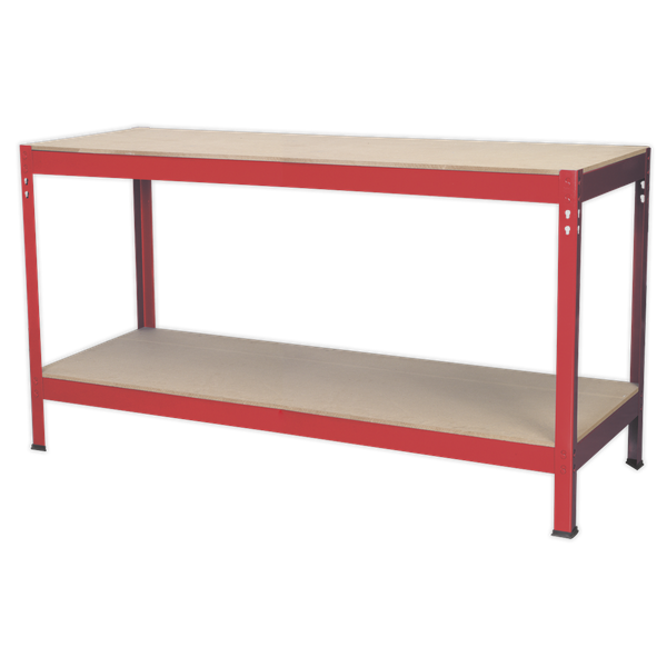 SEALEY WORK BENCH METAL WITH WOODEN TOP AP1535 | Easy Build: No nuts and bolts, which means no tools required to assemble. | toolforce.ie