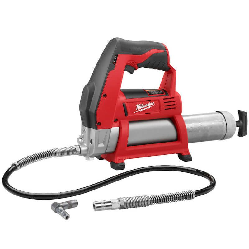 Milwaukee M12 Battery Grease Gun Body Only M12GG-0   Supplied with 914 mm x 14.4 mm high pressure flex hose with spring guard and grease coupler.   toolforce.ie