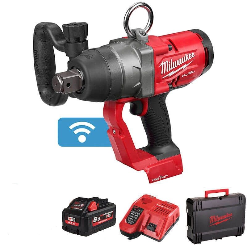 """Milwaukee M18ONEFHIWF1-801X 18V Fuel 1"""" High Torque Impact Wrench With One Key"""