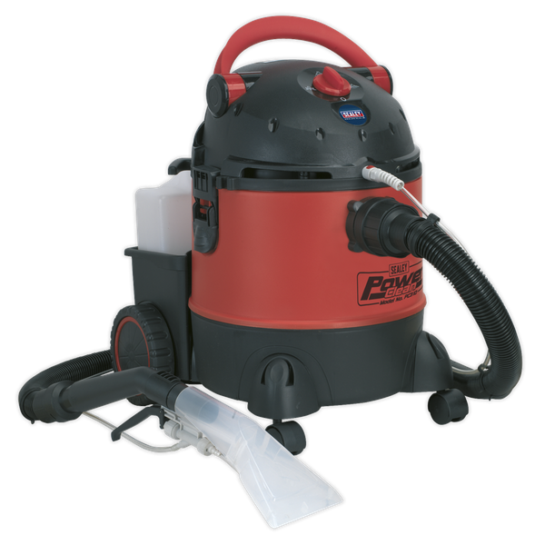 Valeting Machine Wet & Dry with Accessories 20L 1250W/230V | Cleans carpets, car interiors, fabrics and upholstery. | toolforce.ie