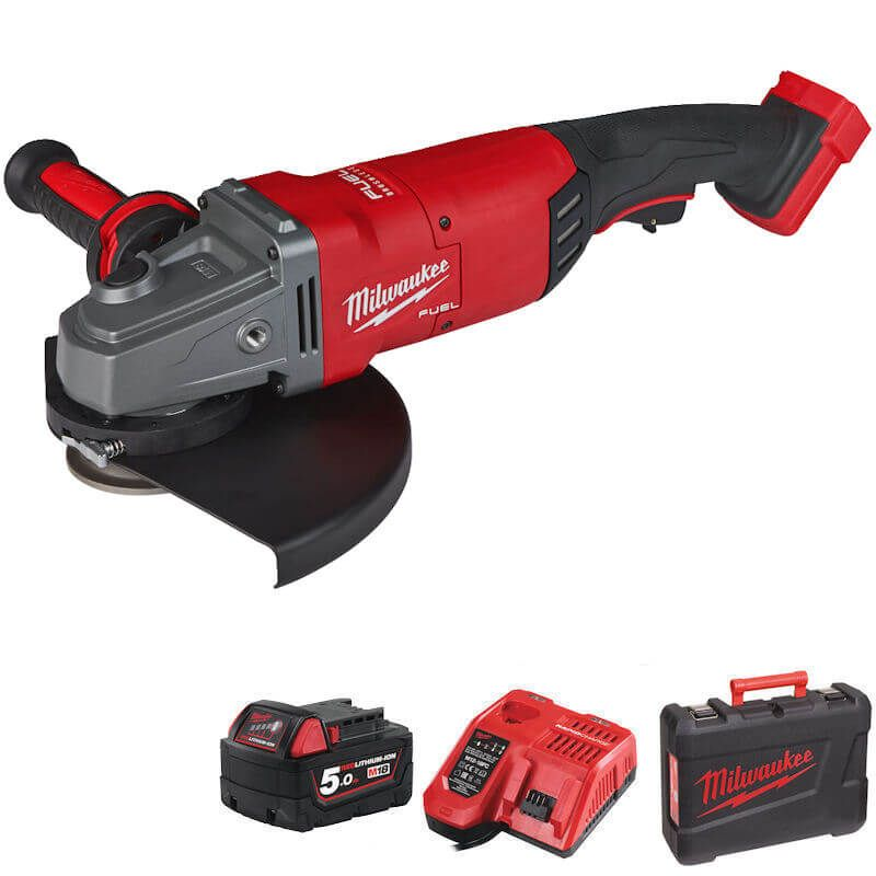 """Milwaukee M18 Fuel Angle Grinder 9"""" With Rapid Stop M18FLAG230-501B"""