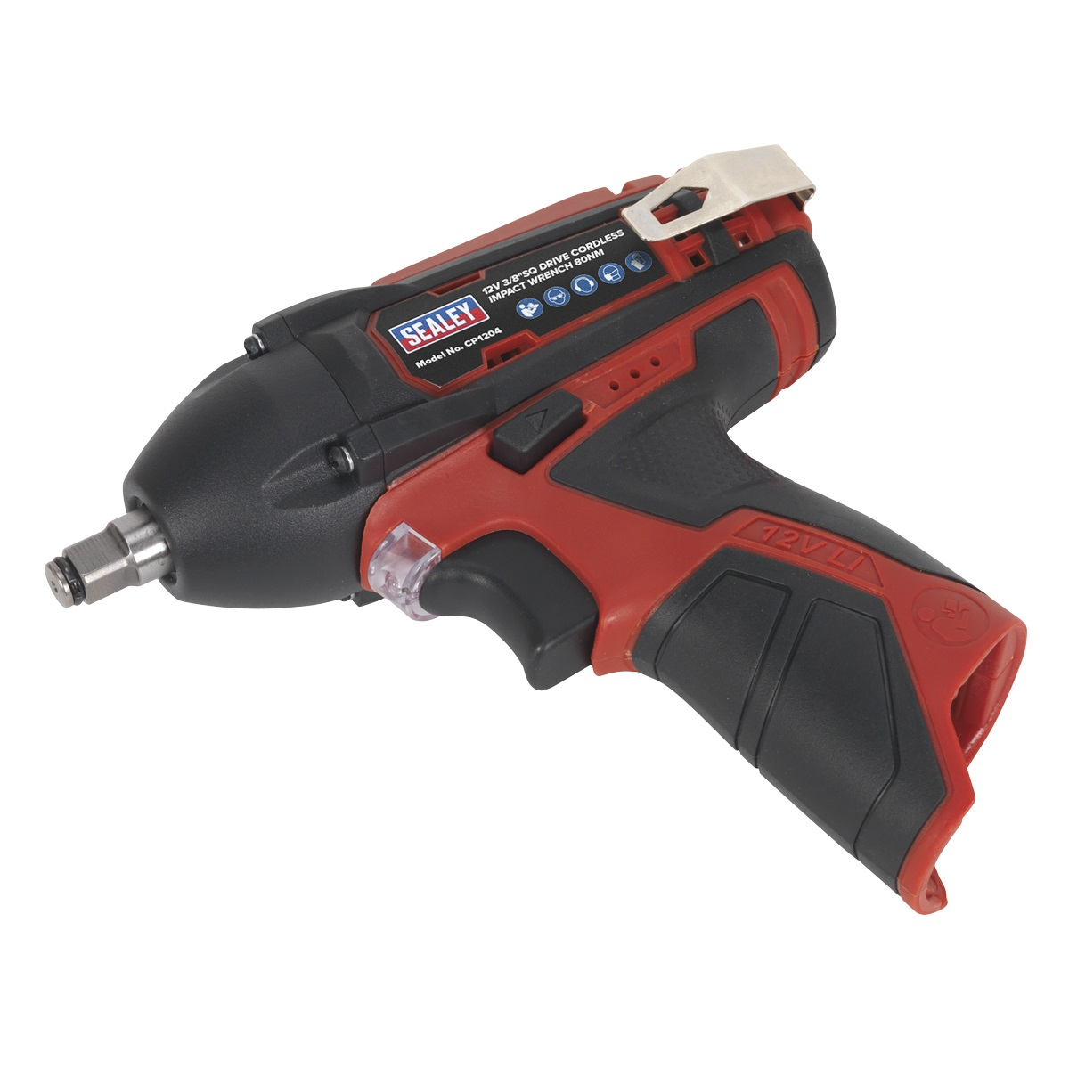 SEALEY Impact Gun 12V Sq Drive 80Nm(Body Only) CP1204 | Compact, lightweight cordless impact gun | toolforce.ie