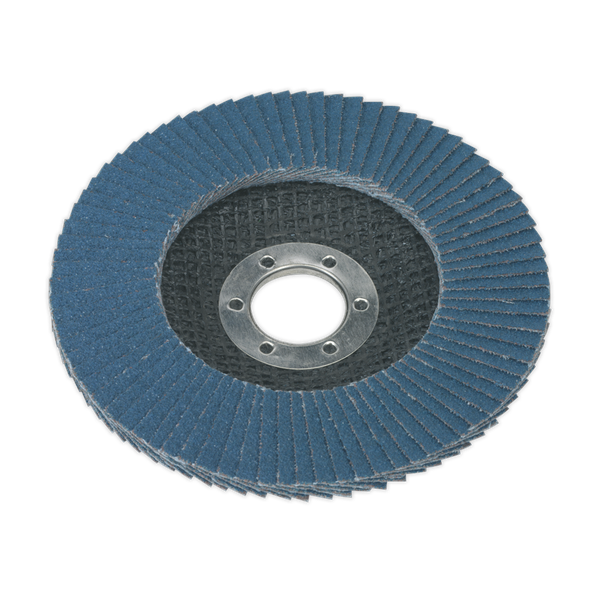 Flap Disc Zirconium Ø115mm Ø22mm Bore 40Grit   Zirconium flap disc for descaling, derusting, weld preparation, weld cleaning and general surface preparation.   toolforce.ie