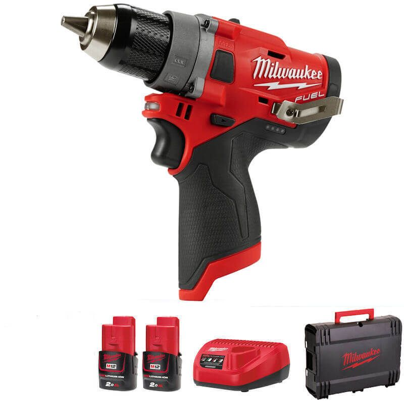 Milwaukee 12V Sub Compact Drill Driver Kit M12FDD-202X |  | toolforce.ie