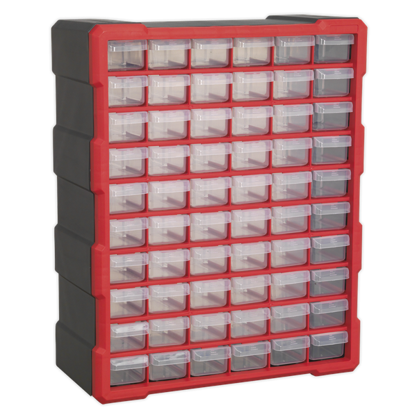 SEALEY 60 DRAWER CABINET BOX APDC60R   Tough and durable housing, contains 60 impact resistant composite drawers.   toolforce.ie