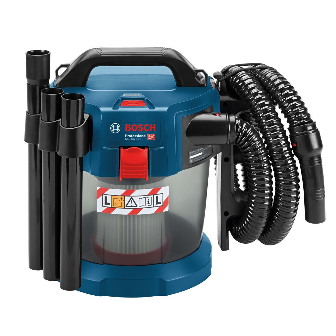 BOSCH CORDLESS DUST EXTRACTOR VACUUM GAS18V-10 | It is compatible with the Bosch Click & Clean System as well as with all Bosch Professional 18 V batteries and chargers (Professional 18V System). | toolforce.ie