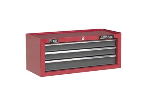 Sealey 3 Drawer Toolbox Ball Bearing Slides AP22309BB | Additional storage to be used with the rest of the American PROrange. | toolforce.ie
