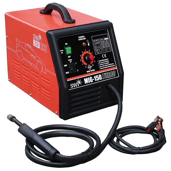 SWP Redline MIG Welder 150 Turbo 9325 | Robust thermoplastic case so you're safe to set down your weld. | toolforce.ie