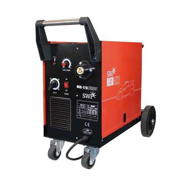 SWP Redline MIG Welder 170 Turbo - Package 9326   Ideally suited to repairs, maintenance, DIY and hobby use.   toolforce.ie