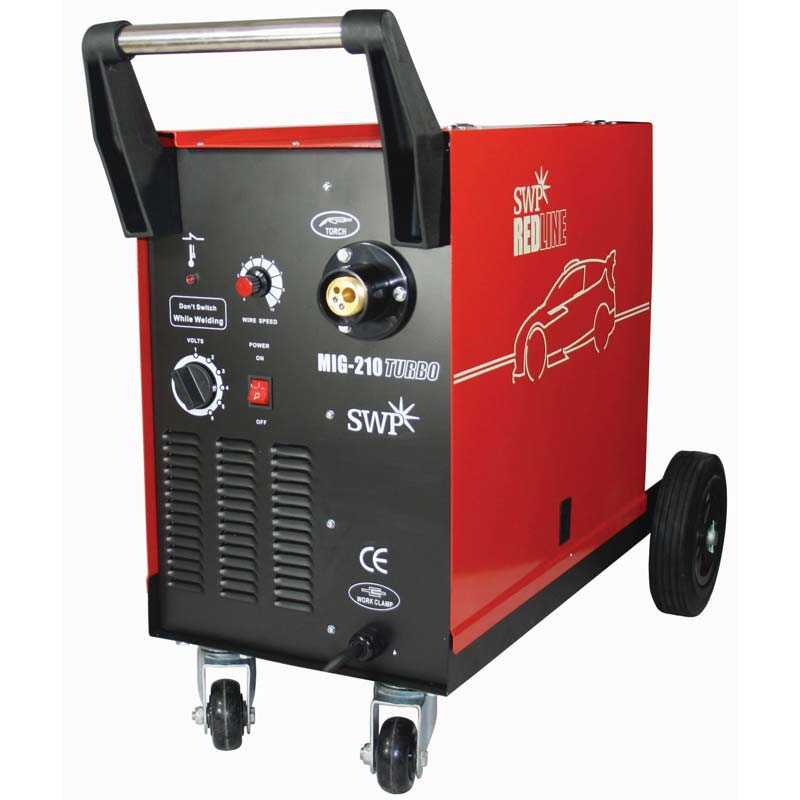 SWP Redline MIG Welder 210 Turbo - Package 9328   Durable cabinet construction and quality components normally only seen on high end professional equipment.   toolforce.ie