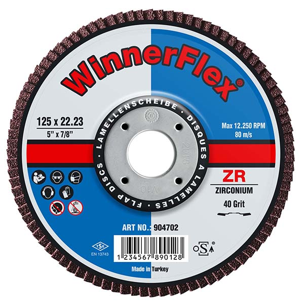 SWP Flap Disc 4.5inch x 1mm Fine Cutting 40 Grit 1614   SWP Winnerflex combines good quality with great value.   toolforce.ie
