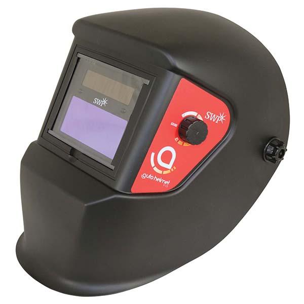 SWP Black Auto-Darkening Helmet 3037 | Two detection sensors | Adjustable stepless sensitivity/delays | toolforce.ie
