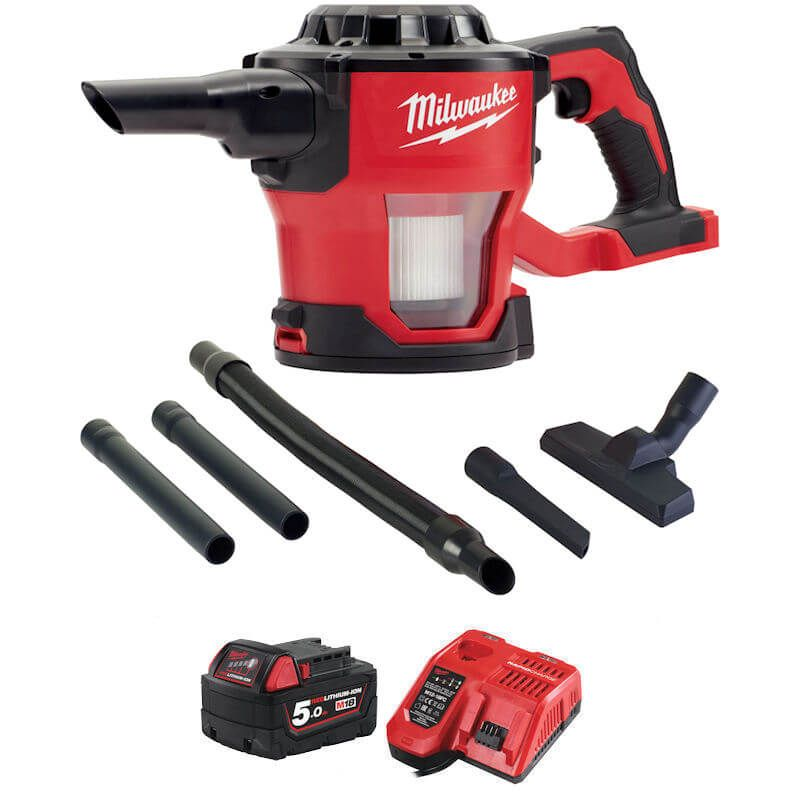 Milwaukee M18 Handheld Vacuum Cleaner  M18CV-501 kit 18v with battery and charger