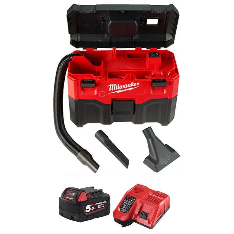 MILWAUKEE M18 CORDLESS WET & DRY VACUUM CLEANER M18VC2-501 with battery and charger