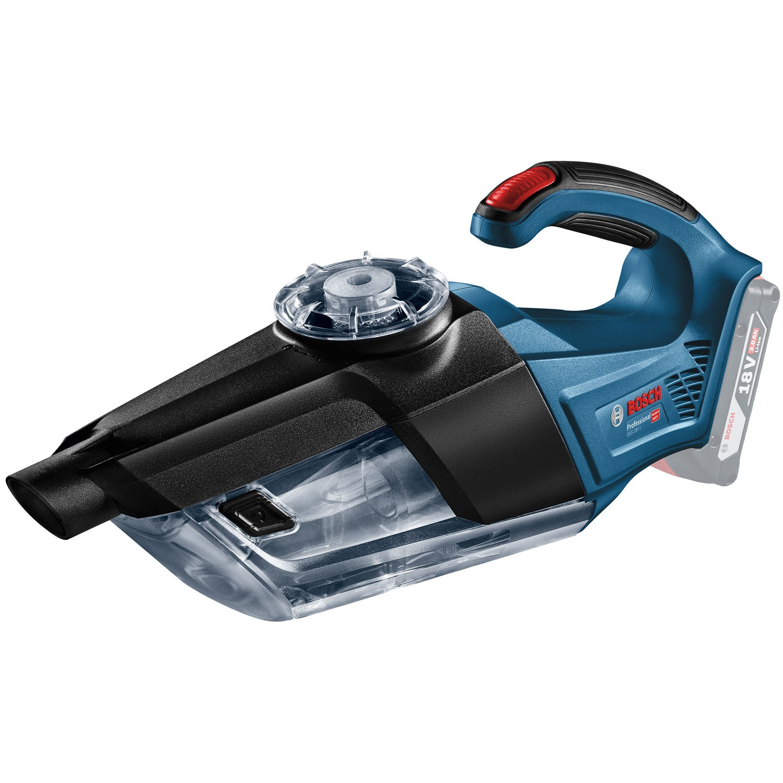 BOSCH GAS 18V-1 Professional Cordless Vacuum Cleaner 18V 06019C6200 | Convenient and compact with a weight of only 1.3 kg | toolforce.ie