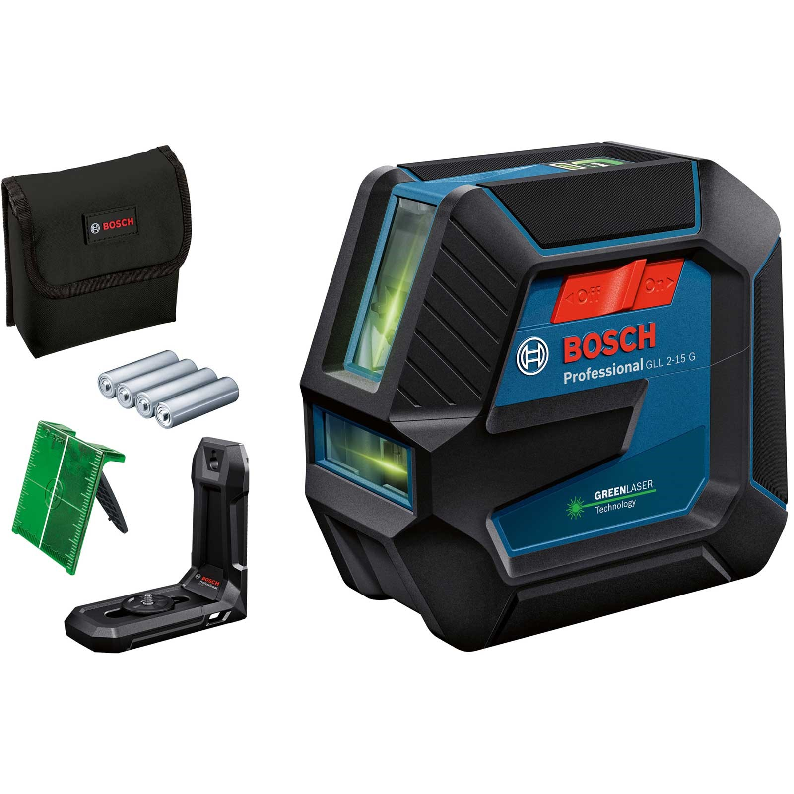 BOSCH GLL 2-15 G Professional Line Laser 0601063W00 kit with wall bracket
