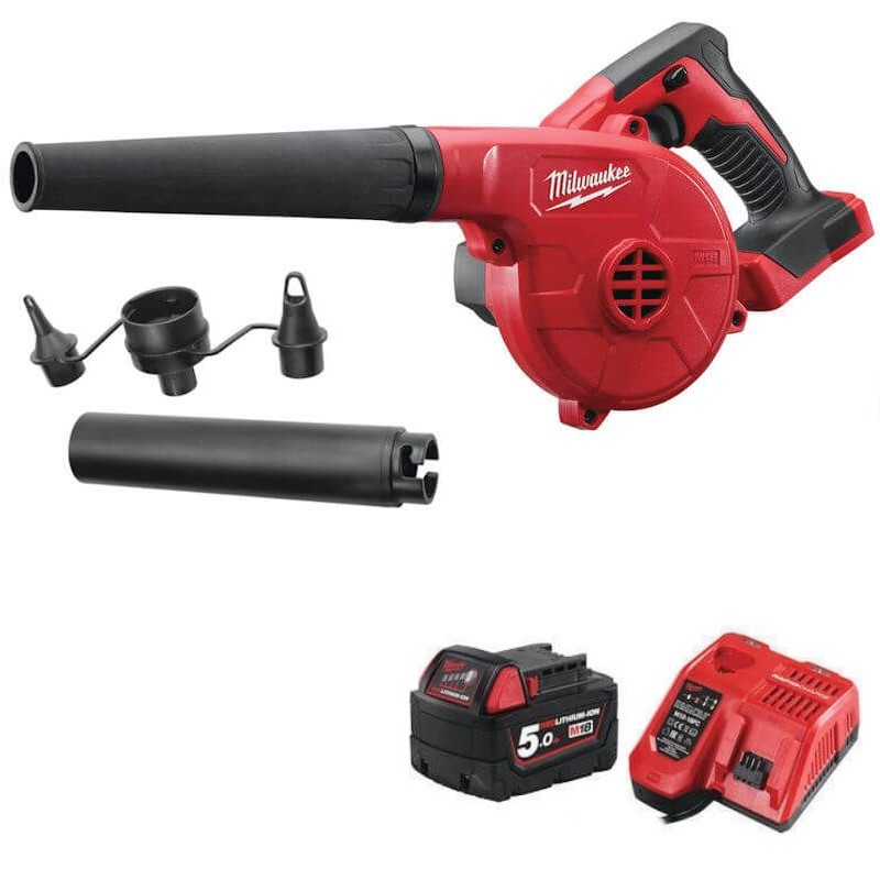 Milwaukee M18 Compact Leaf Blower Kit  M18BBL-501 with battery and charger