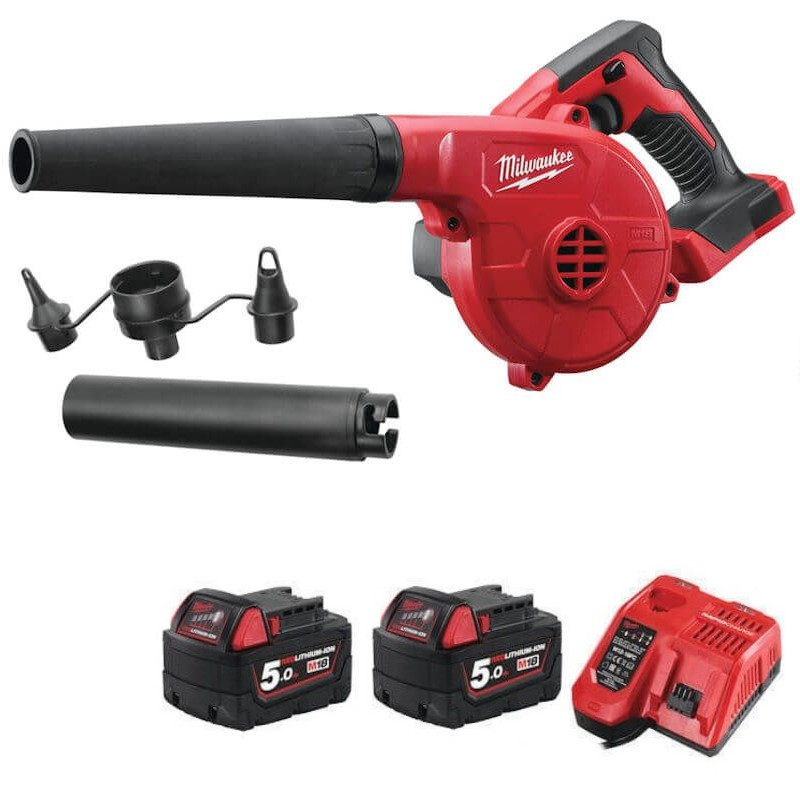 Milwaukee M18 Compact Leaf Blower Kit  M18BBL-502 with 2 batteries and charger
