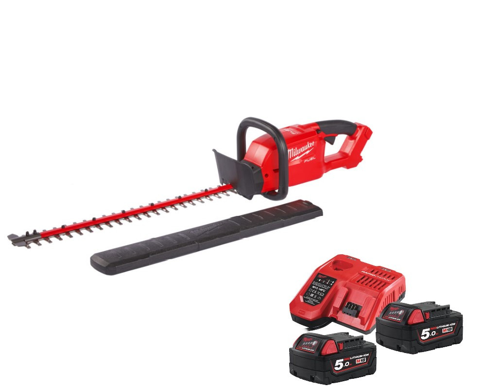 Milwaukee M18 Fuel Hedge Trimmer M18CHT-502 kit with 2 batteries