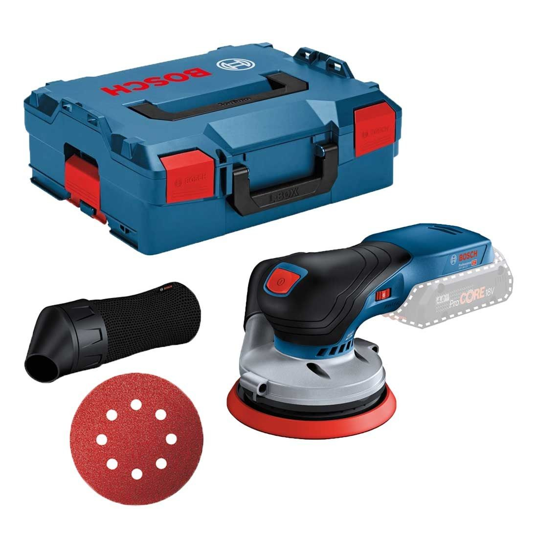 Bosch GEX 18V-125 Professional Cordless Random Orbit Sander (Body Only) 0601372200 | Optimal control for sanding larger surfaces | toolforce.ie