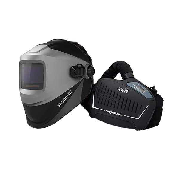 SWP Stealth-XG Welding/Grinding Helmet & Digi Air Papr Combination 6044   Lightweight, ergonomic design with high impact resistance material   toolforce.ie