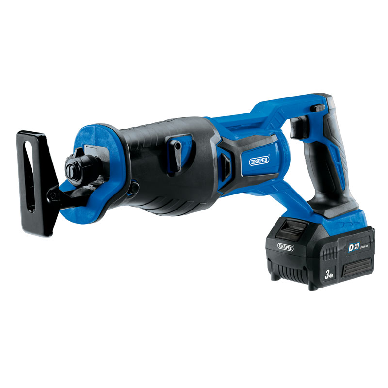 Draper D20 20V Brushless Reciprocating Saw with 1x 3Ah Battery and Fast Charger (D20RS28SET)