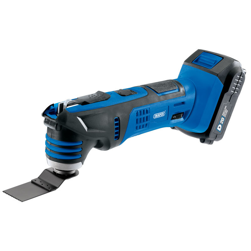 Draper D20 20V Oscillating Multi-Tool with 1x 2Ah Battery and Charger (D20OMT3DEGSET)