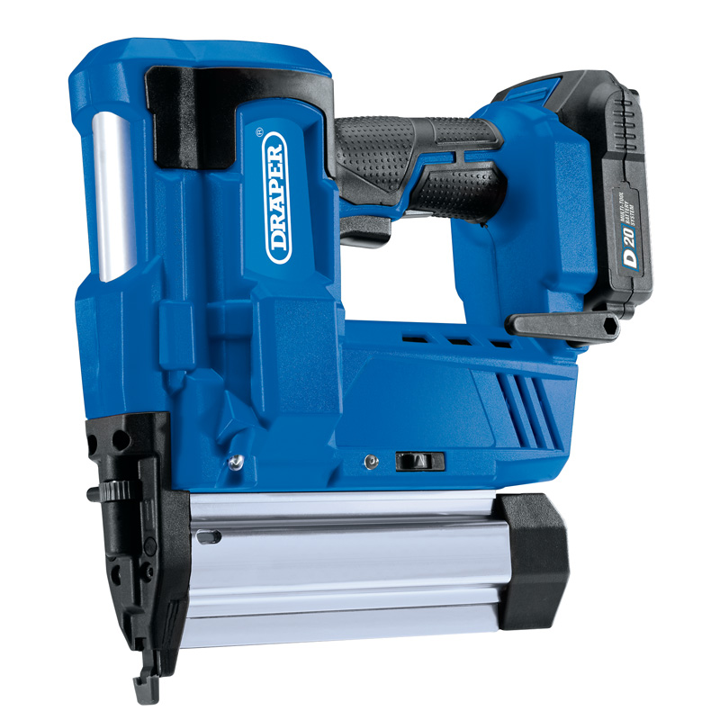 Draper D20 20V Nailer/Stapler with 1x 2Ah Battery and Charger (D20NSSET)