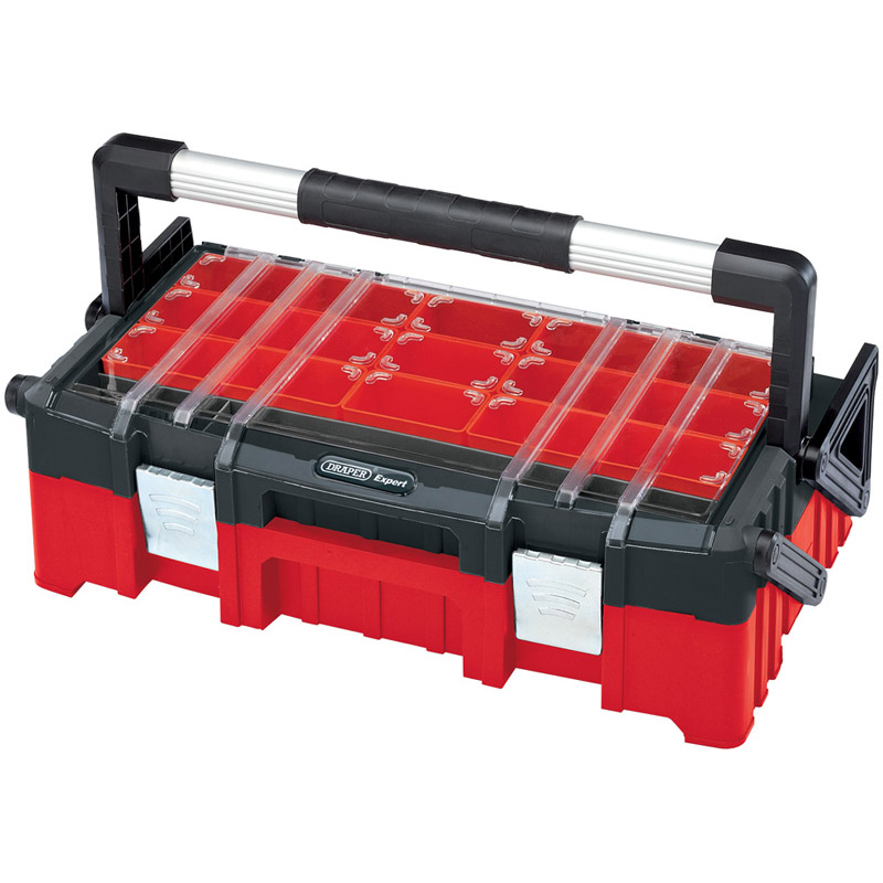 Draper Plastic Cantilever Tool Organiser Box, 570mm (TBCL570)