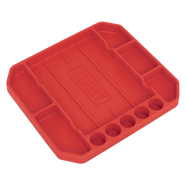 Sealey Flexible Tool Tray Non Slip APNST2   Ideal for holding tools while working on vehicle   Flexibility allows tray to adjust to the surface it is laid on.   toolforce.ie