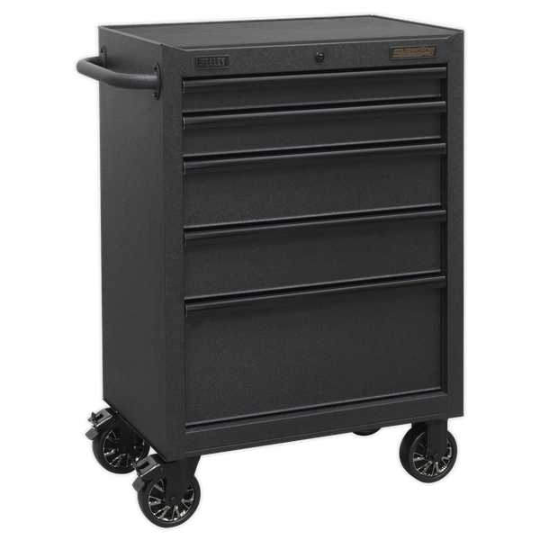 Sealey 5 Drawer Mobile Tool Storage Roll Cab AP2705BE | All heavy-duty steel construction and manufactured with steel inner walls for extra strength and durability. | toolforce.ie