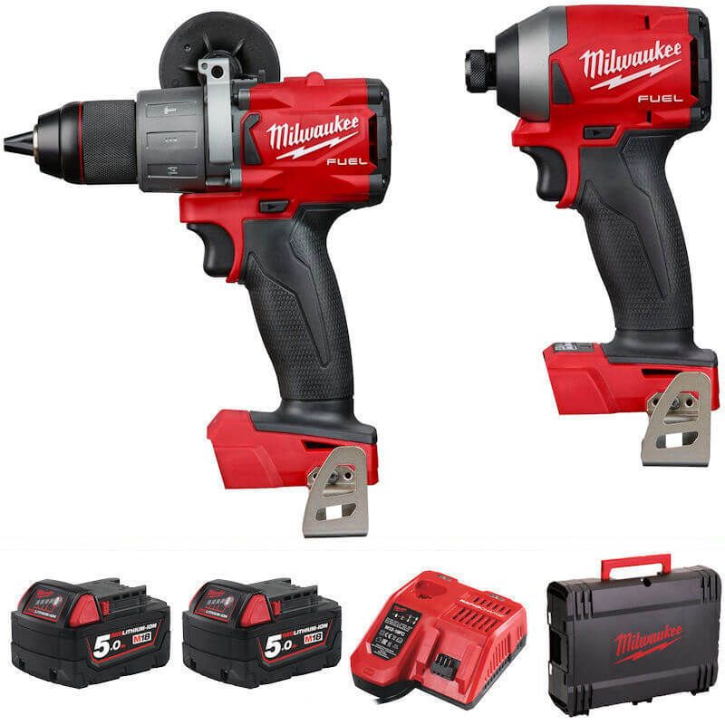 Milwaukee M18 Fuel Drill & Impact Driver Twin Pack M18FPP2A2-502X