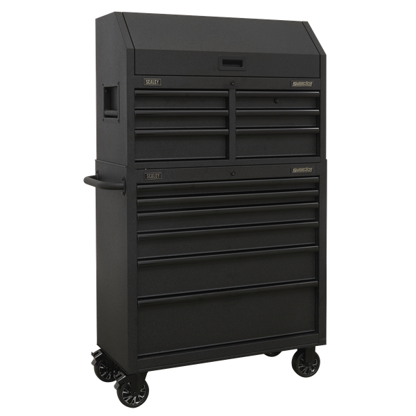 Sealey 12 Drawer Tool Chest AP36BESTACK | Heavy-duty 45mm ball bearing drawer slides provide superior performance, suitable for heavier loads. | toolforce.ie