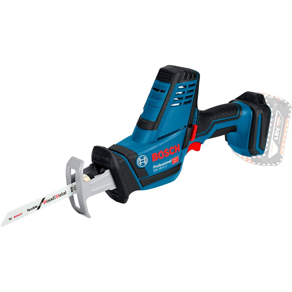 BOSCH 18V CORDLESS RECIPROCATING SAW KIT GSA18VLI-C | The GSA 18 V-LI Professional is intended for sawing wood, metal, and plastic, as well as wood composites and insulation materials. | toolforce.ie