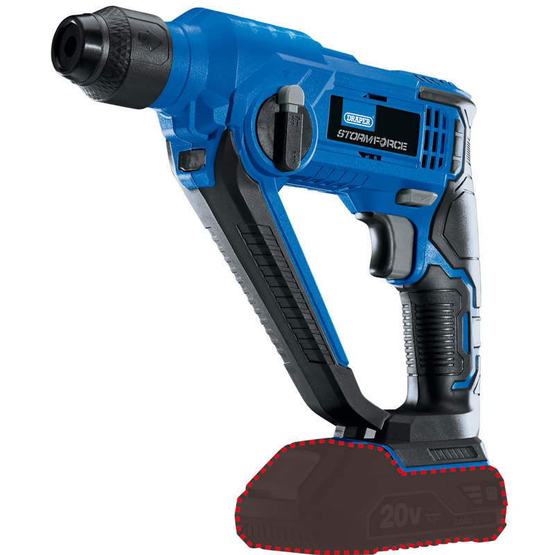 Draper Storm Force 20v SDS+ Rotary Hammer Drill (Body Only) 89512