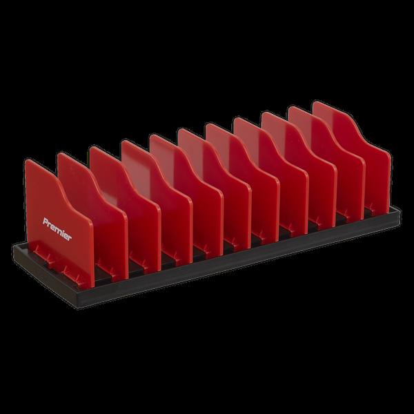 Pliers Rack 250mm   Adjustable rigid dividers for the organised storage of a wide variety of pliers.   toolforce.ie