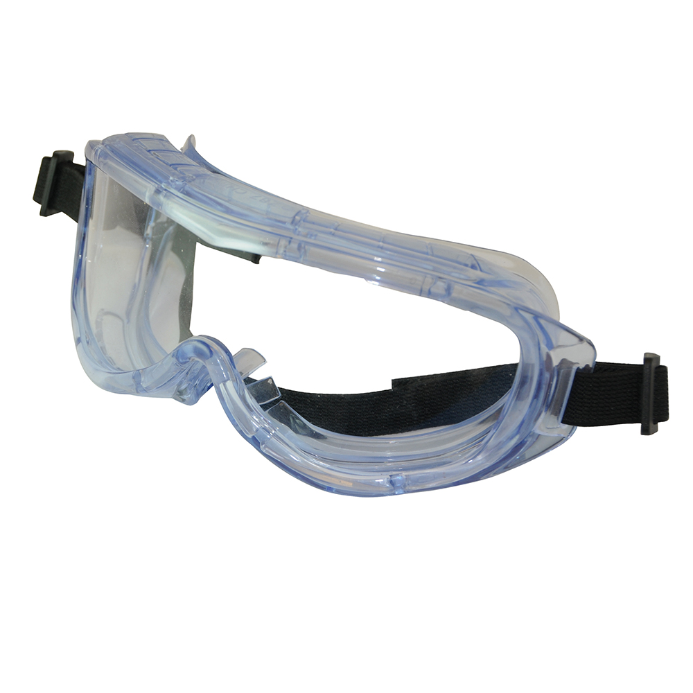Silverline Panoramic Safety Goggles 140903   Blue tinted lightweight frame with integral ventilation.   toolforce.ie