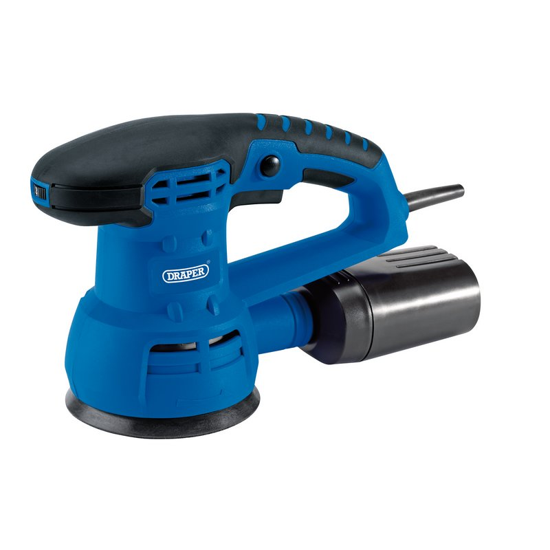 Draper Random Orbit Sander, 125mm, 430W (ROS430D) | Dust collection box and extraction facility | toolforce.ie