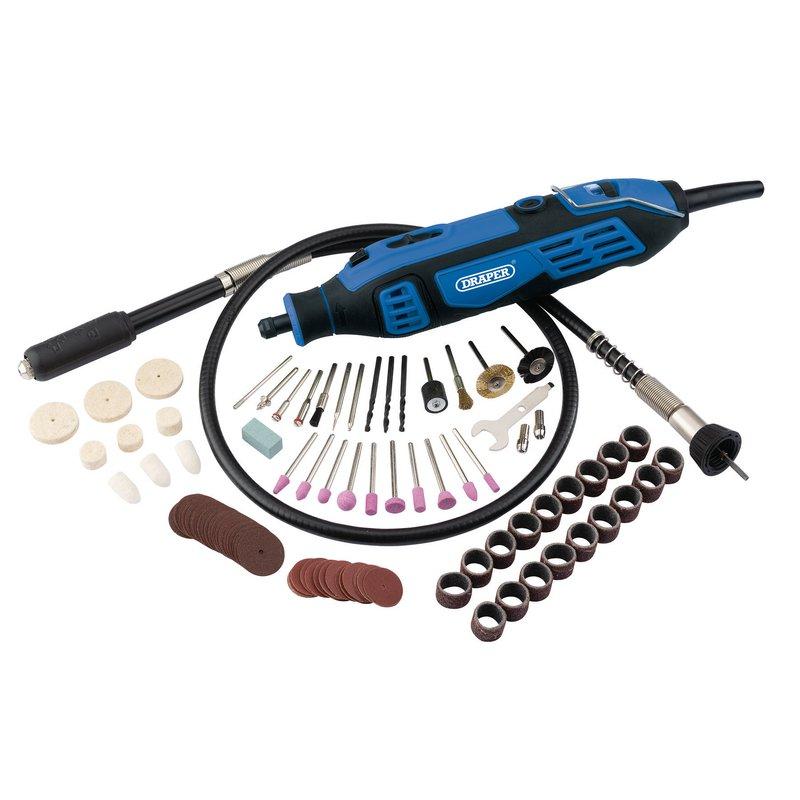 Draper Rotary Multi-Tool Kit, 180W (111 Piece) (MT180D111)